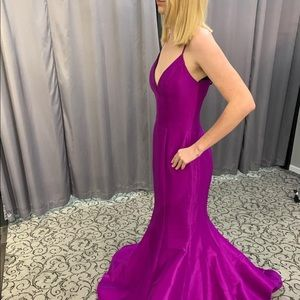Purple event gown by Jovani